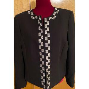 Gorgeous TAHARI Black and Silver Blazer